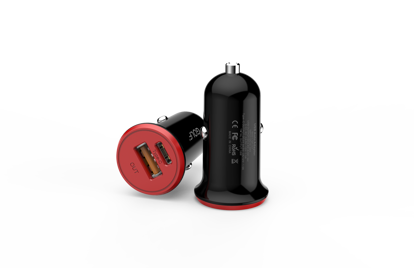 Picture of Golf Golf Dual Car Charger with USB & USB-C ports 3.4A in Black (No Cable)